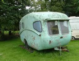Tiny Trailer Meets Spaceship 1957 Caravan