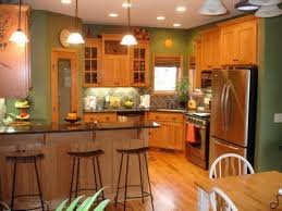 Paint Color Ideas for Kitchen with Oak Cabinets Home Design Bee