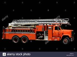 Fire Engine Isolated On A Black Background Stock Photo: 86499419 - Alamy