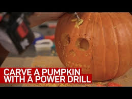 Pumpkin Carving With Drill by Carve A Pumpkin With A Power Drill Youtube