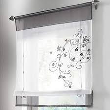 culasign vorhang stickerei blumen transparent gardine voile