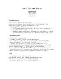 Coaches Resume High School Basketball Coach