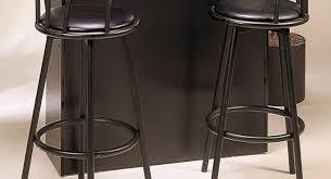 Black Leather Bar Stools by Bar Leather Bar Stools With Back Awesome Black Leather Bar