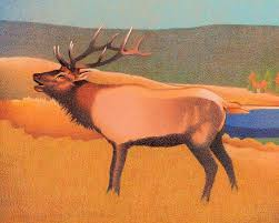 Lifetime 10x8 Sentinel Shed by Impression Evergreen Bull Elk Colored Pencil Drawing Art