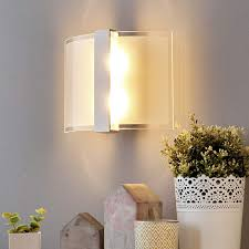 curved glass dina wall light with switch lights co uk