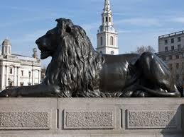 Trafalgar Lion By Anthony ONeil Via Wikimedia Commons