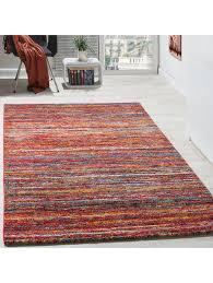 paco home teppiche modern wohnzimmer teppich spezial melierung rot multicolour meliert klingel