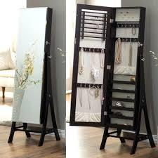 Over The Door Bathroom Organizer Walmart by Full Length Mirror Jewelry Armoire Canada Wall Mount Door Hanging