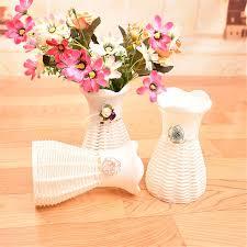 Plastic Garden White Artificial Vase Flower Fruit Beautiful Basket Container Party Room DIY Decoration Random Color 1 Pcs