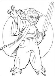 Printable Yoda Coloring Simply Simple Pages