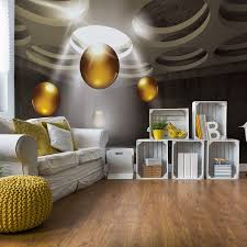 3d modern design gold spheres fototapete