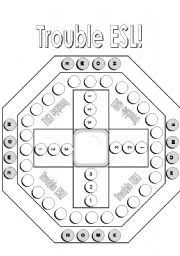 Trouble ESL Board Game Black And White Version With A Touch Of Grey
