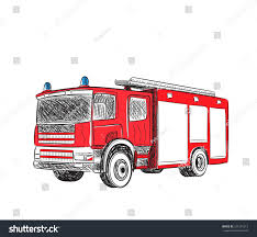 100 Fire Truck Drawing Cartoon Stylized Vector Stock Vector Royalty