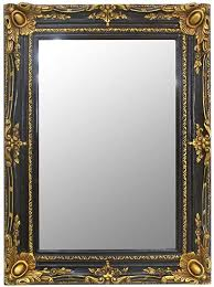 casa padrino barock spiegel schwarz gold 90 x 10 x h 120 cm