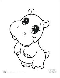 Cartoon Coloring Pages Printables Of Animals Cute