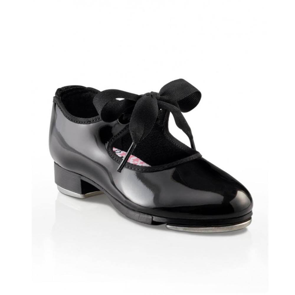 Capezio Girl's Jr. Tyette Tap Shoes - Black