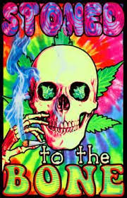Stoned To The Bone Blacklight Poster