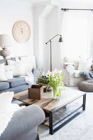 Grey Sectional With Cream Decor