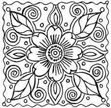 Trendy Idea Coloring Pages Flowers Printable Patterns For Great Older Teens Or Adults Description