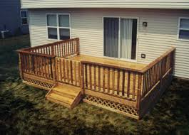 16 x 14 attached leisure deck with lattice apron at menards