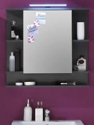 spiegelschrank bad badezimmer spiegel schrank grau 72 cm