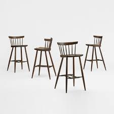 212: GEORGE NAKASHIMA, Four-Legged High Chairs, Set Of Four ...