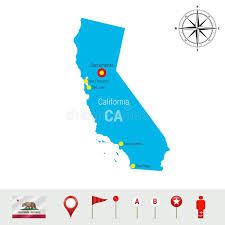 Download California Vector Map Isolated On White Background Detailed Silhouette Of State Official