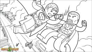 Coloring Pages Dc Universe Super Heroes Free Printable Lego Marvel Colouring Hero Squad