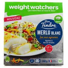 plat cuisiné weight watchers weight watchers merlu blanc jus aux agrumes légumes duo de