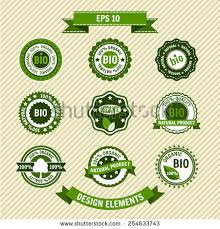Bio Product Set Of Vector Labels Emblems Icons Eco Vintage Template