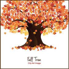Tree Clip Art Fall Trees Autumn Tree Clipart Maple Tree Graphic Oak Trees Natural Trees Flame Tree Deciduous Tree Fall Clipart
