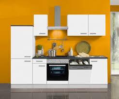 küchenblock oslo 270 cm mit einbauspüle ohne elektrogeräte in weiß matt geschirrspüler geeignet