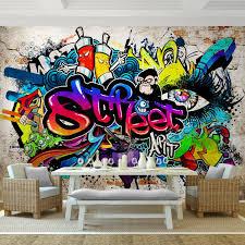 fototapeten 396 x 280 cm graffiti streetart vlies wanddekoration wohnzimmer schlafzimmer deutsche manufaktur bunt 9218012b