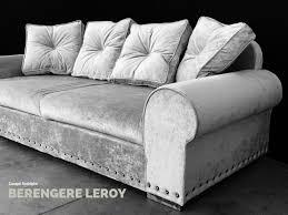 canapé velours gris canapé sur mesure rodolphe en velours lavé décorateur d