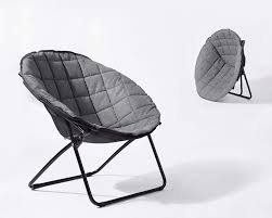 Large Folding Moon Chair Round Fabric Seat Living Room Spacesaver (Grey) By  EHomeProducts For Glass Room Chair Vico Set Ding Gloss And Round Chairs Nottingham Rustic Solid Wood Black Table Diy End Tables With Funky Fresh Designs Small Living Large Round Swivel Chair In Lisvane Cardiff Gumtree Rh Homepage Swivel Amazon Rocker Arm Modern Interior Of Modern Ding Room With White Walls Wooden Floor Ikea Eaging Ideas Decor Extra Lighting Oversized Relaxing In Front Of Fniturebox Uk Vogue Circular Chrome Metal Clear 6 Seater Lorenzo 4 Fniture