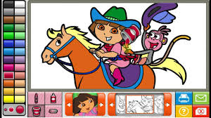 Nick Jr Dora Coloring Pages 18 Book The Explorer