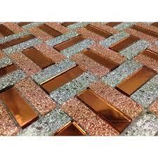Mirror Tiles 12x12 Gold by Mirrored Mosaic Tile Backsplash Zyouhoukan Net