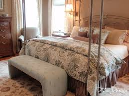 Cute Pergola Bed By Pottery Barn Teens With Floral Bedding Plus Bench For Bedroom Decor Ideas