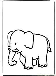 Coloring Pages Elephant B658 Mammals
