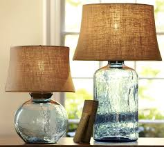 Pottery Barn Sea Glass Bathroom Accessories by Colored Glass Table Lamps From Pottery Barn Clift Collection