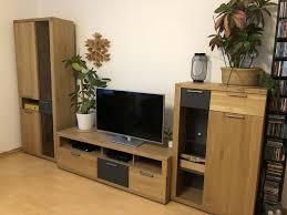 mömax zandiara wohnzimmer möbel 4 teilig wildeiche massiv grau