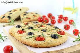 focaccia tomates olives herbes brian iz in the kitchen