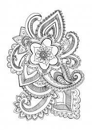 Coloring Page Adults Flower Celine