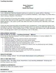 Teaching Assistant CV Example