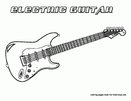 Download Coloring Pages Guitar Page Grand Guitars Free Electric Sheets