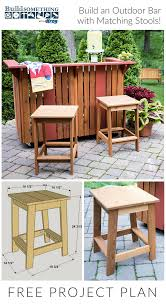 100 Printable Images Of Wooden Folding Chairs FREE Project Plan Build An Outdoor Bar With Matching Stools Free