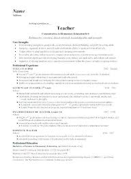 Special Education Sample Resume Ed Assistant