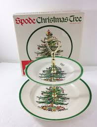 Spode Christmas Tree Highball Glasses by Spode Christmas Tree Double Tier Tidbit Tray Cookie Appetizer