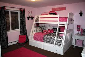 Cute Bedroom Ideas With Bunk Bed And Pink Rugs Inside Proportions 1600 X 1067