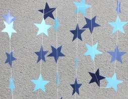 Handmade Paper Crafts Stars Garland Hanging Decorations Wedding Party Birthday Supplies Festival DIY Home Christmas